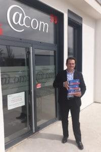 Nicolas Miner, expert-comptable, fait don de masques au CHU de Marmande