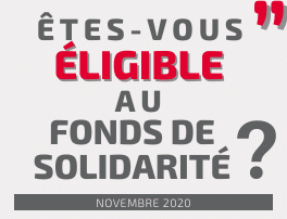 Êtes-vous éligible au fonds de solidarité pour novembre 2020 ?
