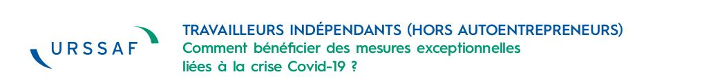 travailleurs independants mesures exceptionnelles covid-19_banniere