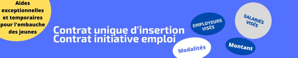 Contrat unique d'insertion-contrat initiative emploi