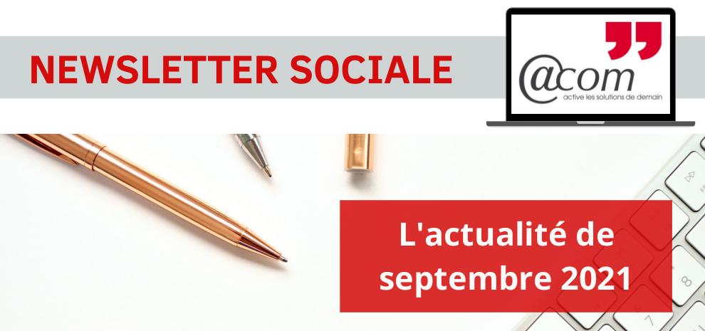 L'actualité sociale – Septembre 2021